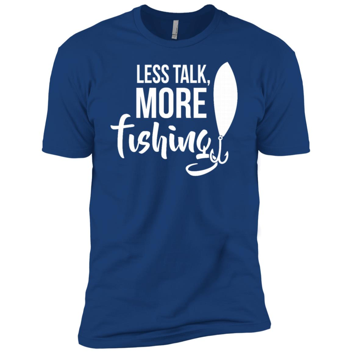 Less Talk More Fishing Funny Humor Hobby Men Short Sleeve T-Shirt