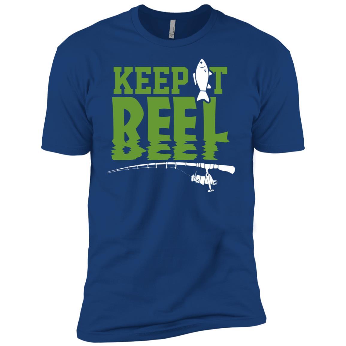Keep it Reel Funny Outdoors Fisherman Fishing Men Short Sleeve T-Shirt