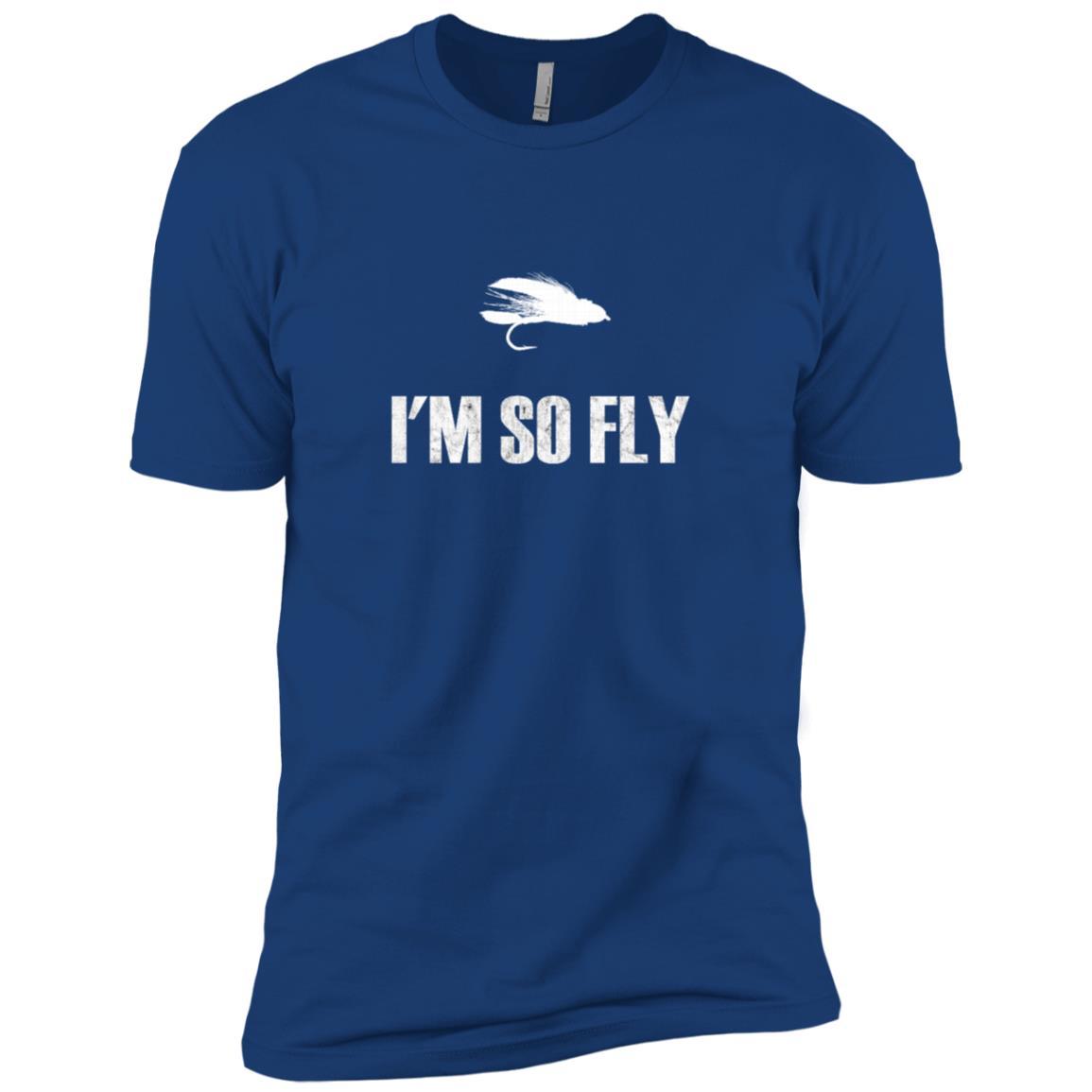 I'm So Fly Fishing Flies Fisherman Hobby Gift Men Short Sleeve T-Shirt