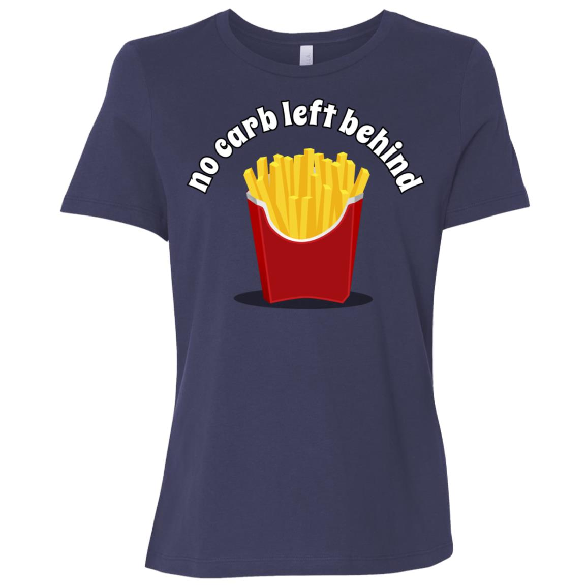 No Carb Left Behind French Fries Women Short Sleeve T-Shirt