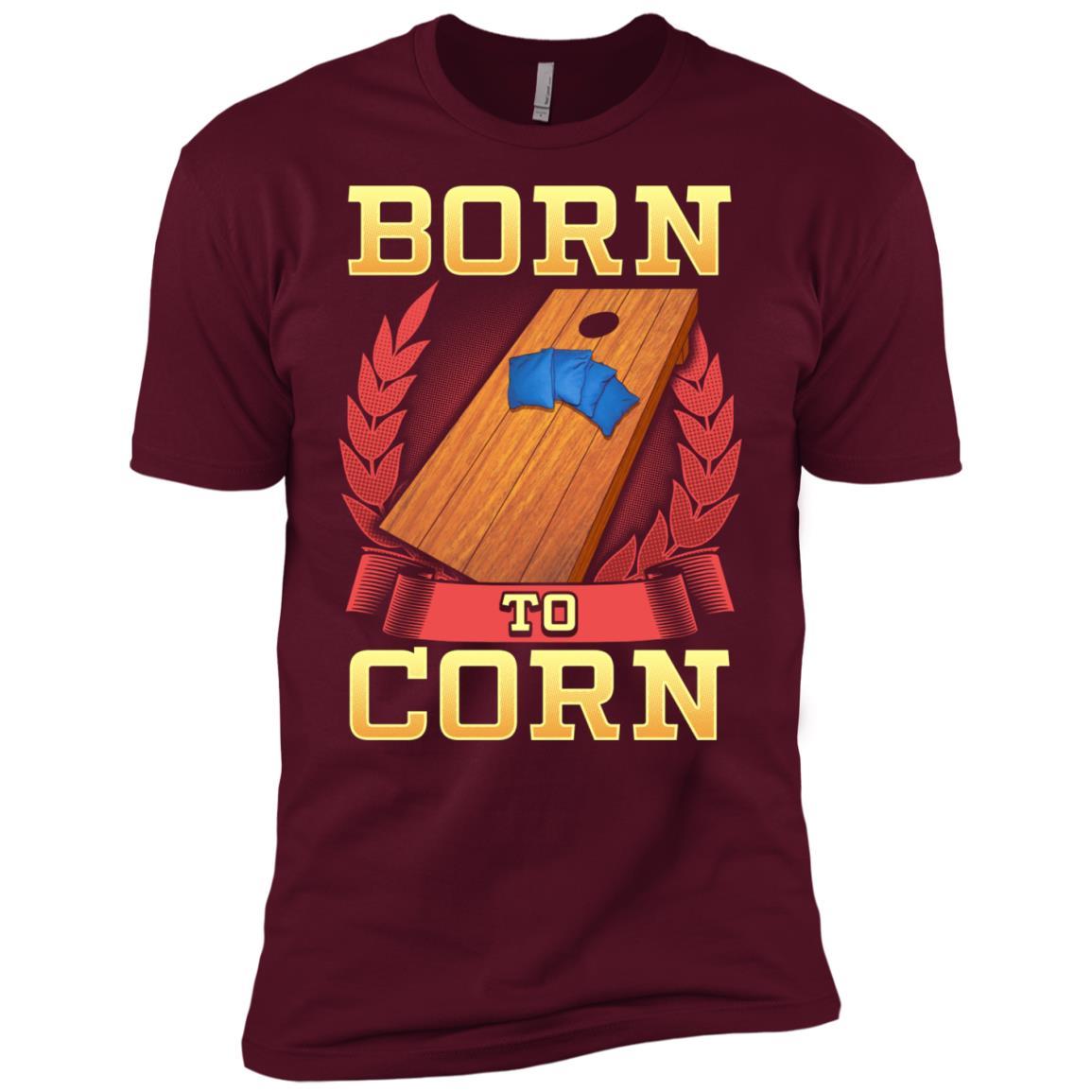Born To Cornhole Gift For Sack Toss Player Men Short Sleeve T-Shirt