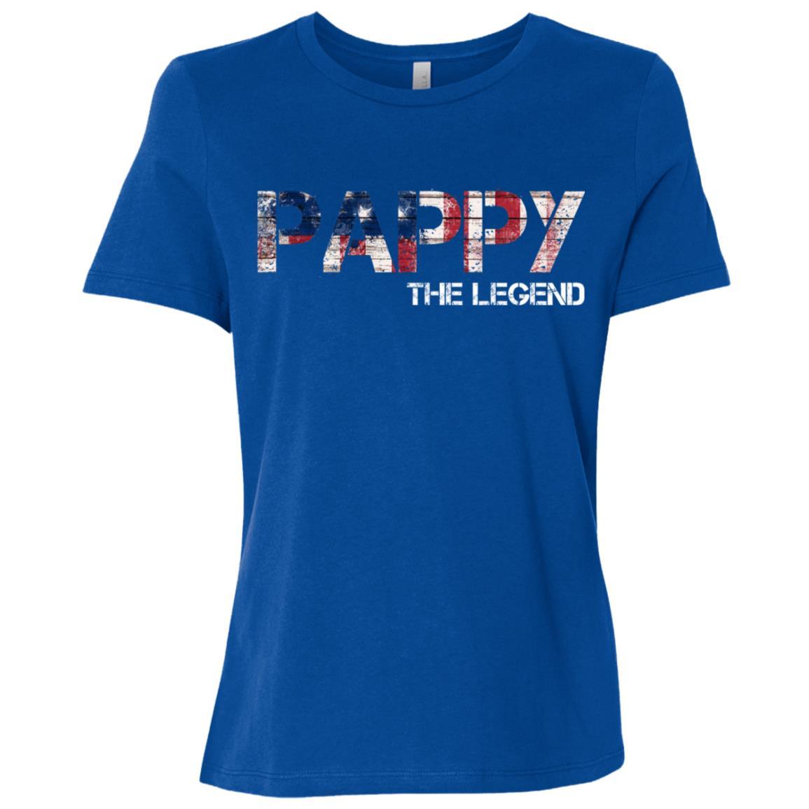 Men's Pappy The Legend Fun Cute Father Day Gift Women Short Sleeve T-Shirt