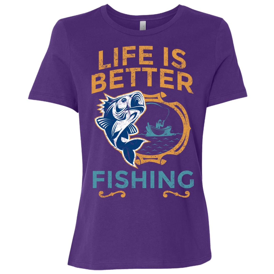 Life Is Better Fishing Large Mouth Bass-1 Women Short Sleeve T-Shirt