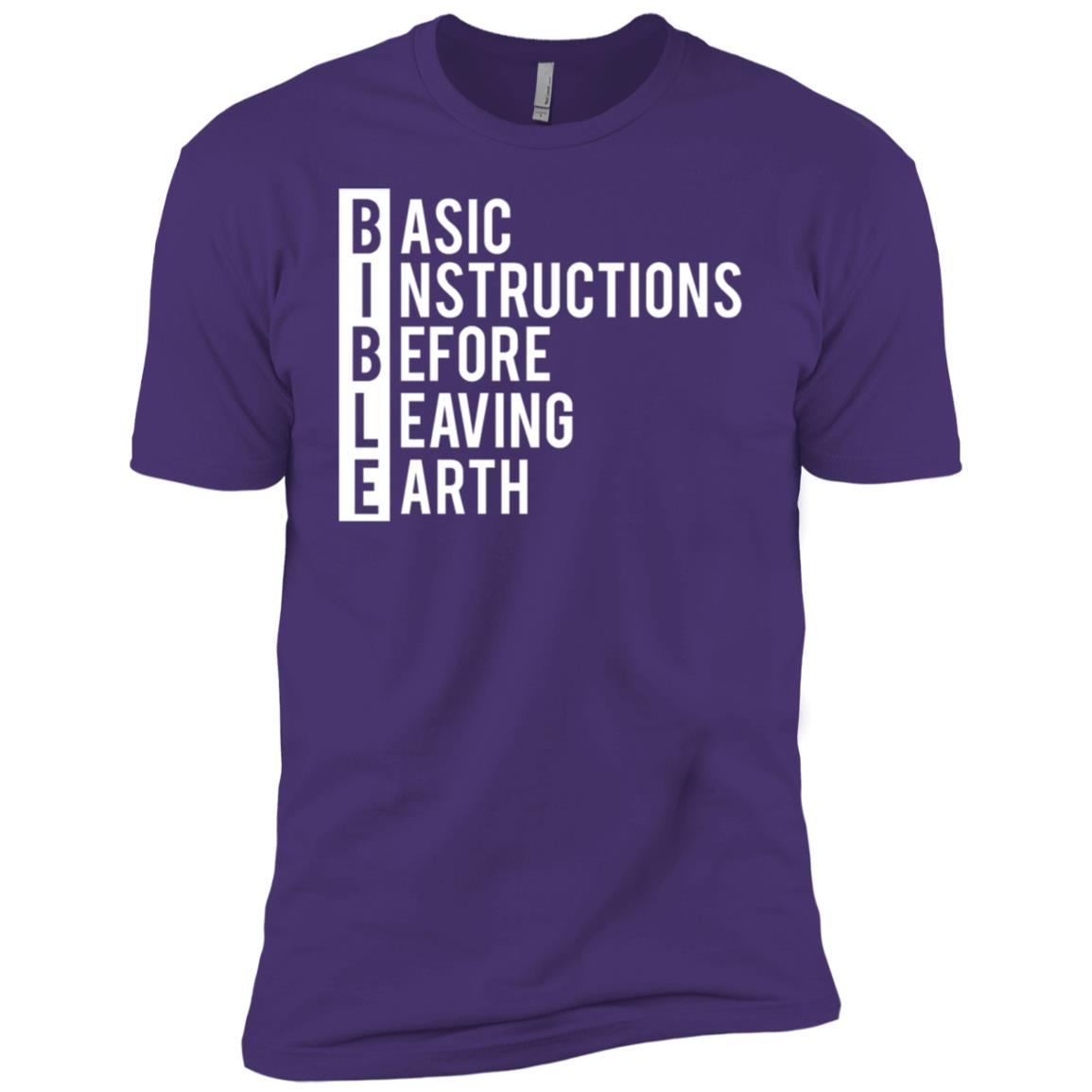 Bible Life Instructions Christian Men Short Sleeve T-Shirt