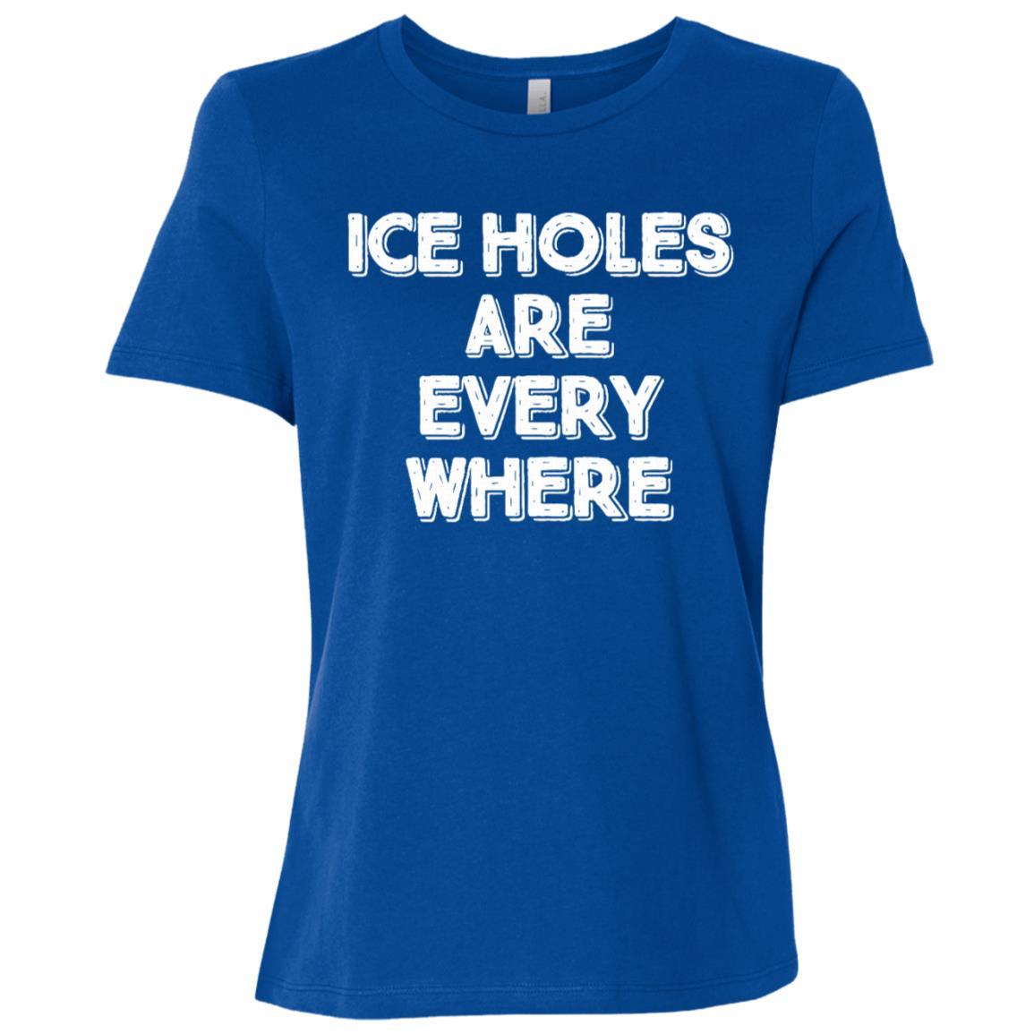 Ice Fishing Funny Winter Fish Holes Gift Women Short Sleeve T-Shirt