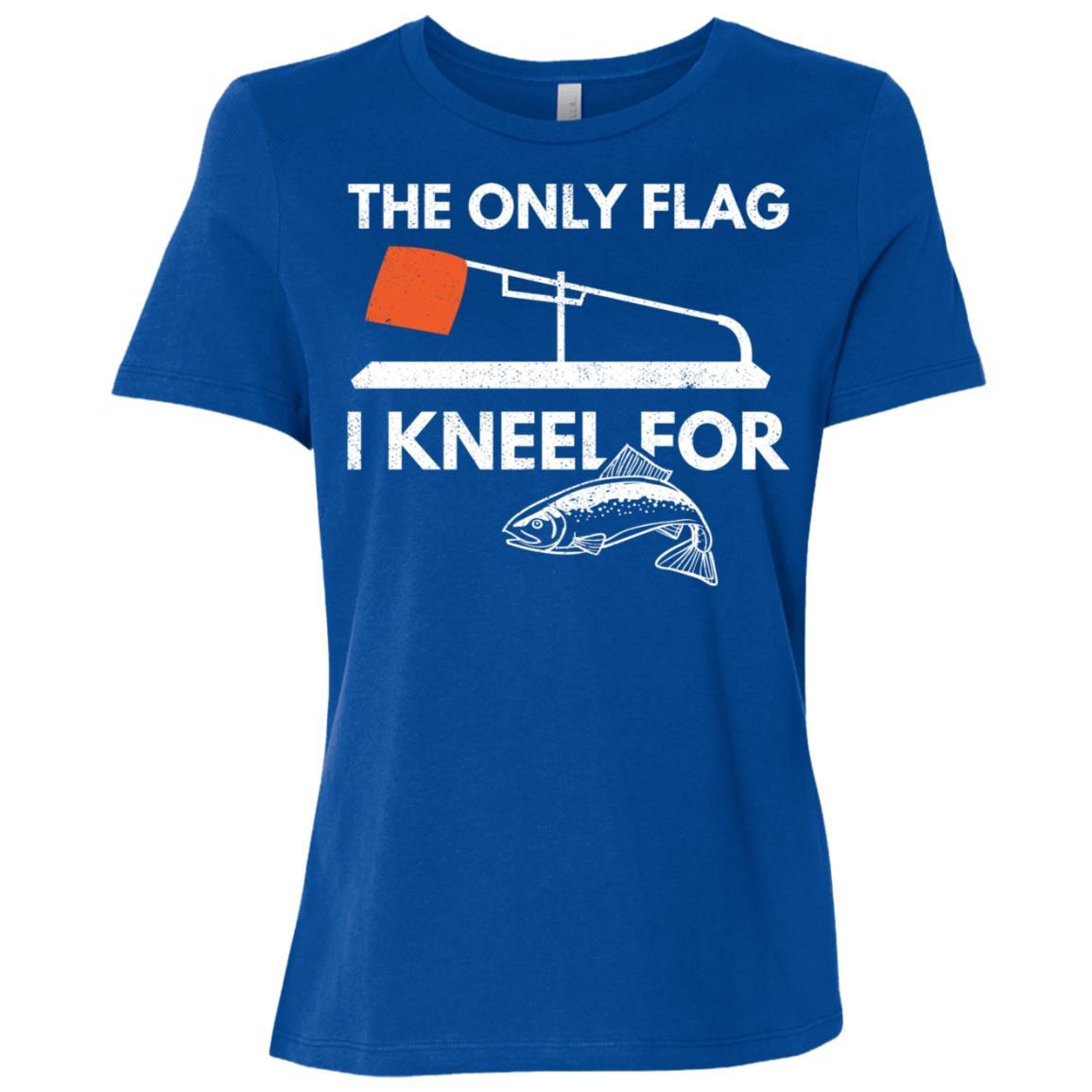 Ice Fishing Funny Tip Up Flag Women Short Sleeve T-Shirt