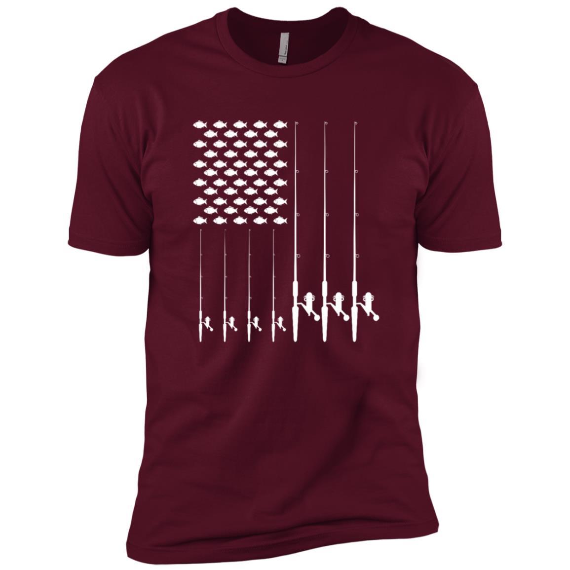Usa flag Fishing Ls Fish Bend Your Rod Men Short Sleeve T-Shirt