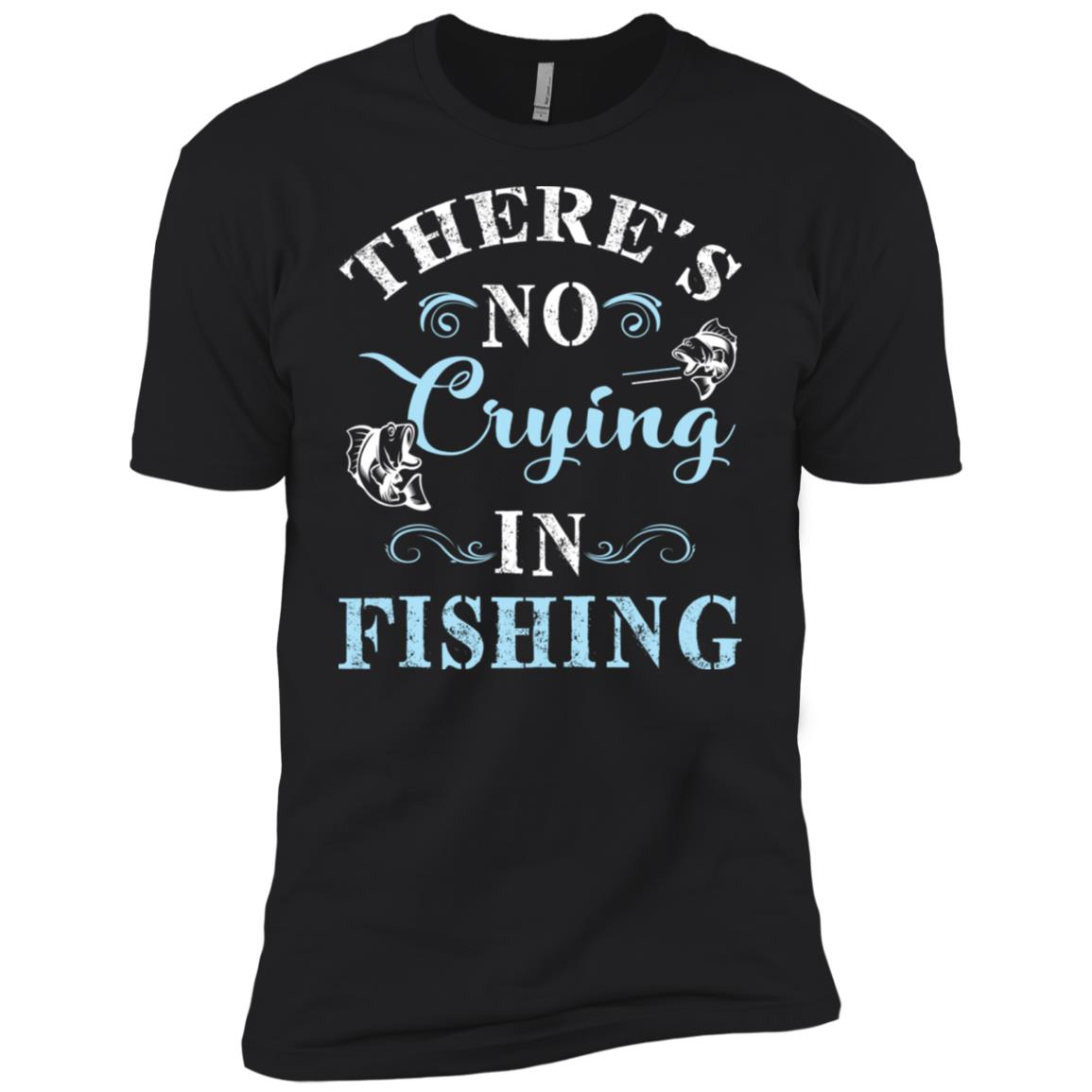 There's No Crying In Fishing Men Short Sleeve T-Shirt