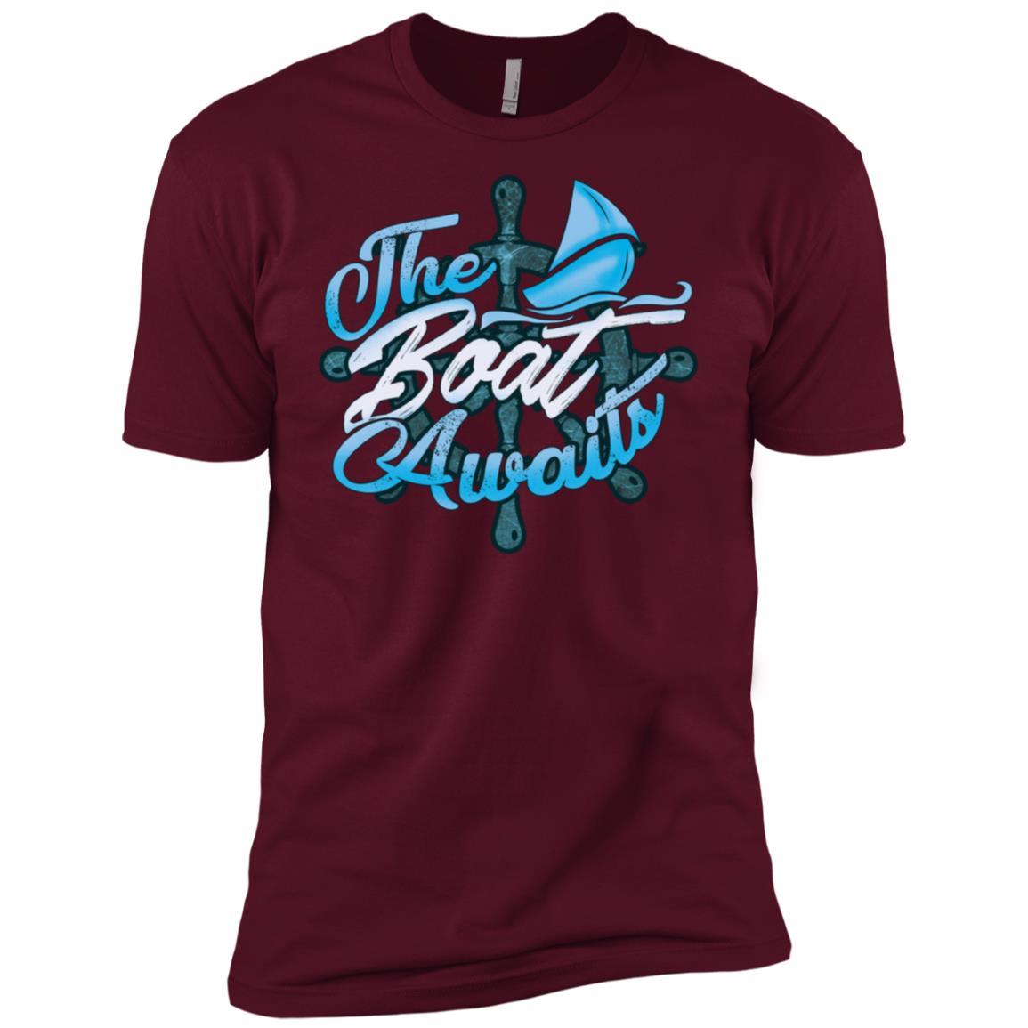 The Boat Awaits Nautical Sailing Boating Men Short Sleeve T-Shirt