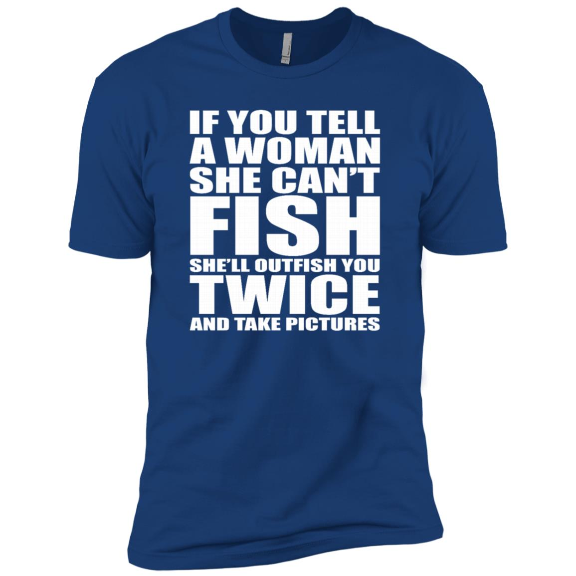 She'll Outfish You Twice & Take Pictures Funny Fish Ls Men Short Sleeve T-Shirt