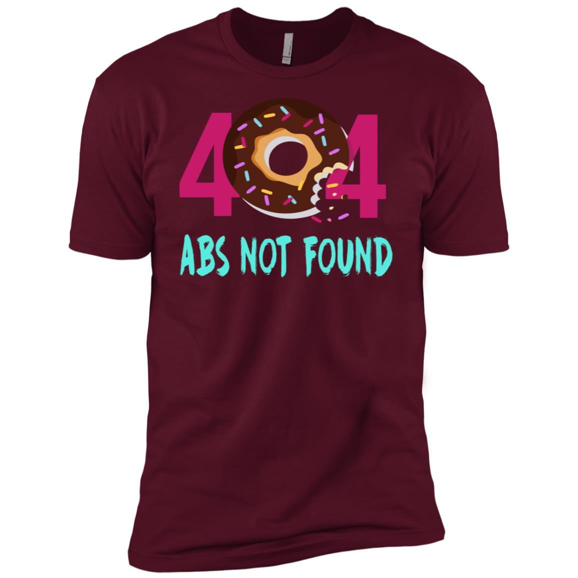 404 Abs Not Found Gym Donuts & Deadlifts Funny Workout Men Short Sleeve T-Shirt