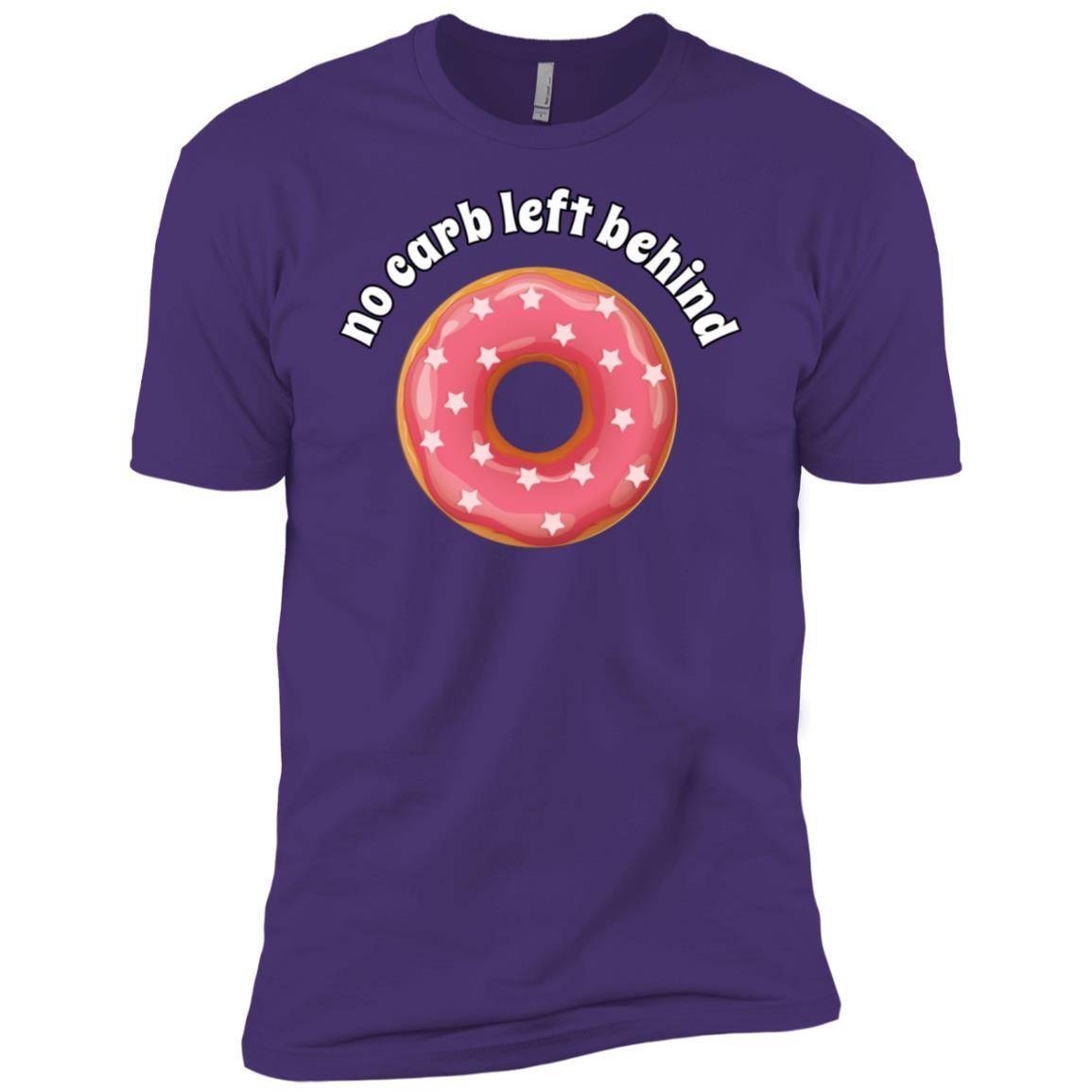 No Carb Left Behind Donut -1 Men Short Sleeve T-Shirt