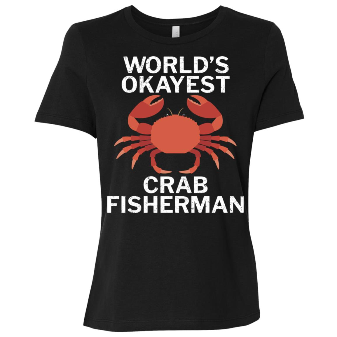 World's Okayest Crab Fisherman Funny Women Short Sleeve T-Shirt