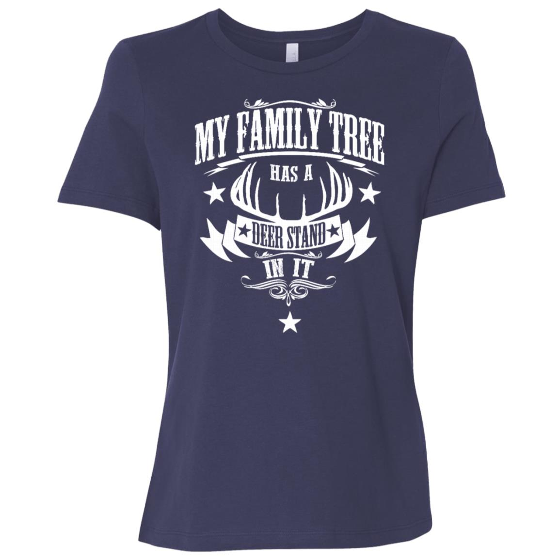 My Family Tree has a Deer Stand in it Women Short Sleeve T-Shirt