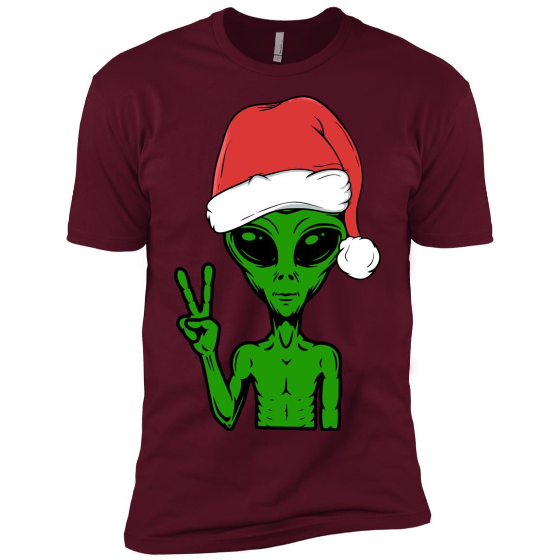 Alien Santa Christmas Funny Xmas Gift-1 Men Short Sleeve T-Shirt