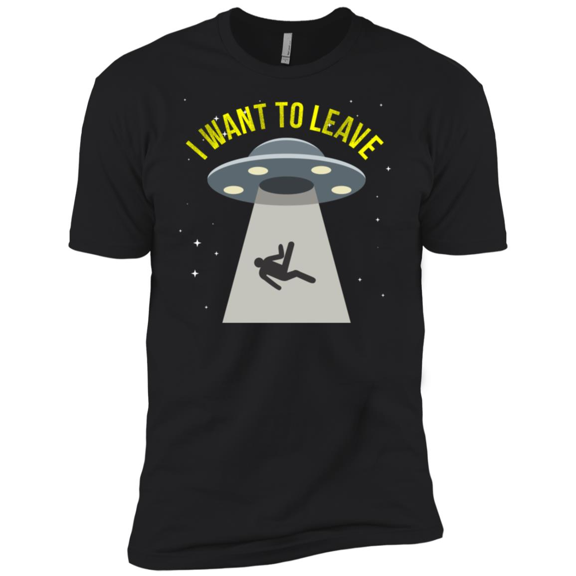 Alien Ls I Want To Leave Galaxy Outer Space Explore Men Short Sleeve T-Shirt