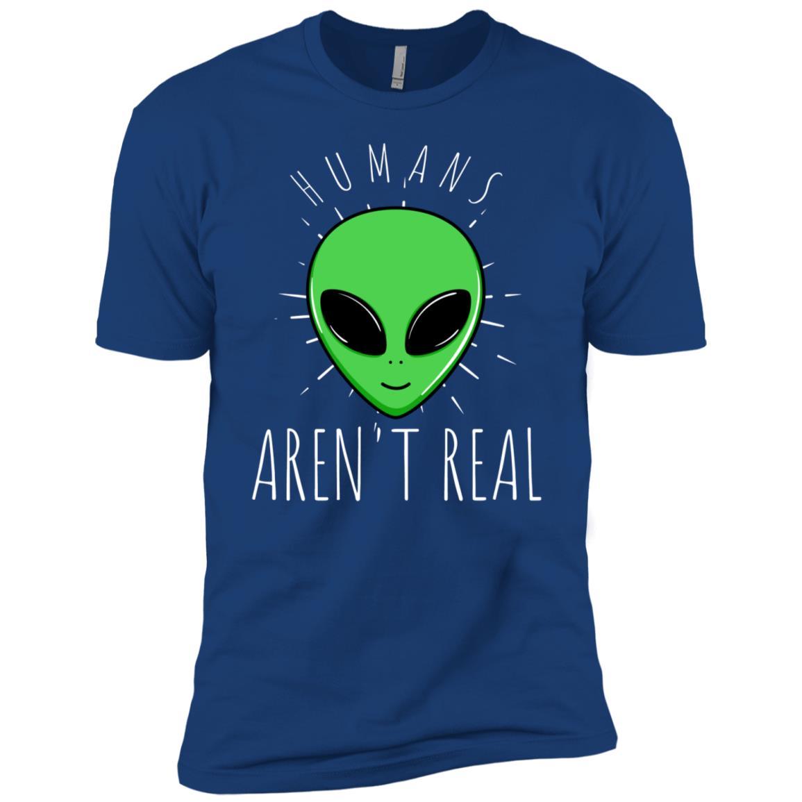 Alien Humans Aren't Real Ufo Space World Men Short Sleeve T-Shirt