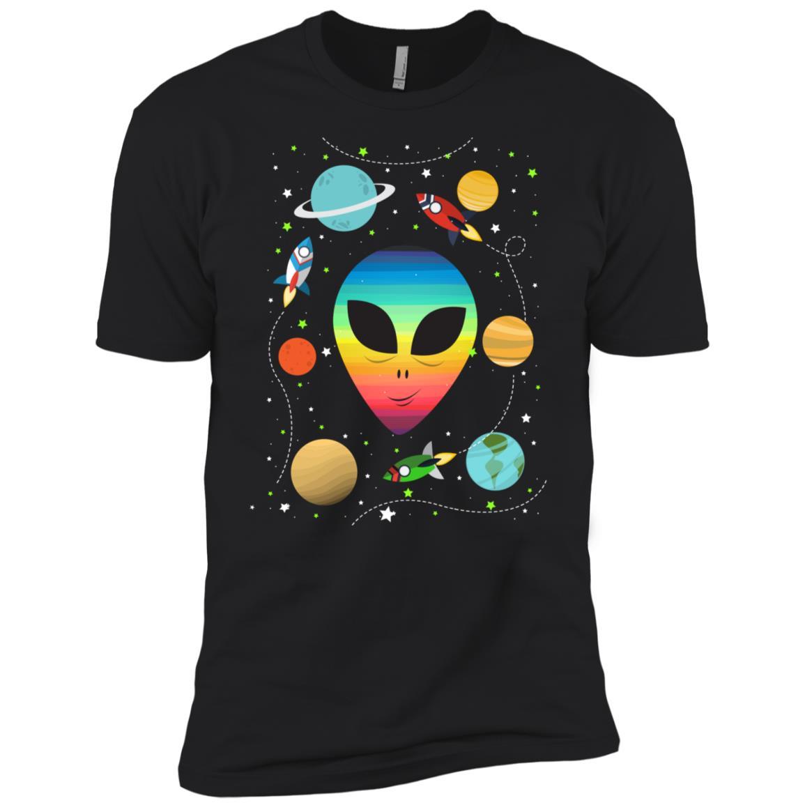 Alien Head Funny Gifts Men Short Sleeve T-Shirt