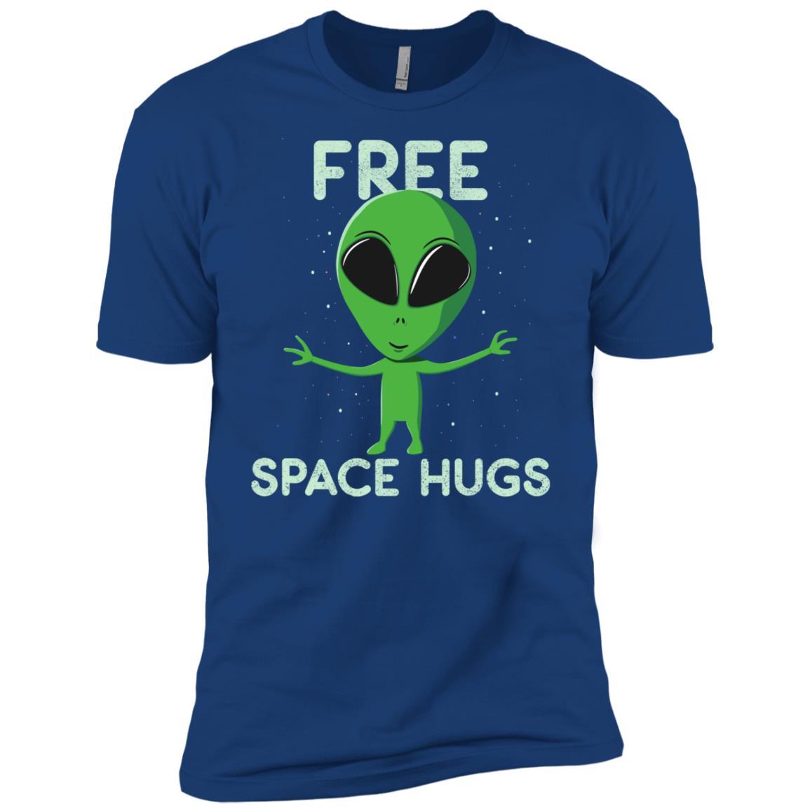 Alien Free Hugs from Space Men Short Sleeve T-Shirt