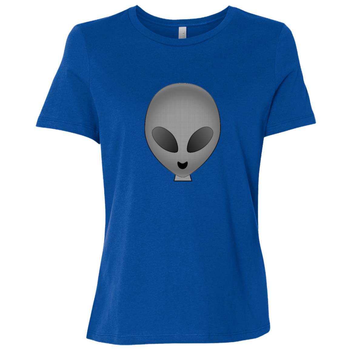 Alien Head Women Short Sleeve T-Shirt
