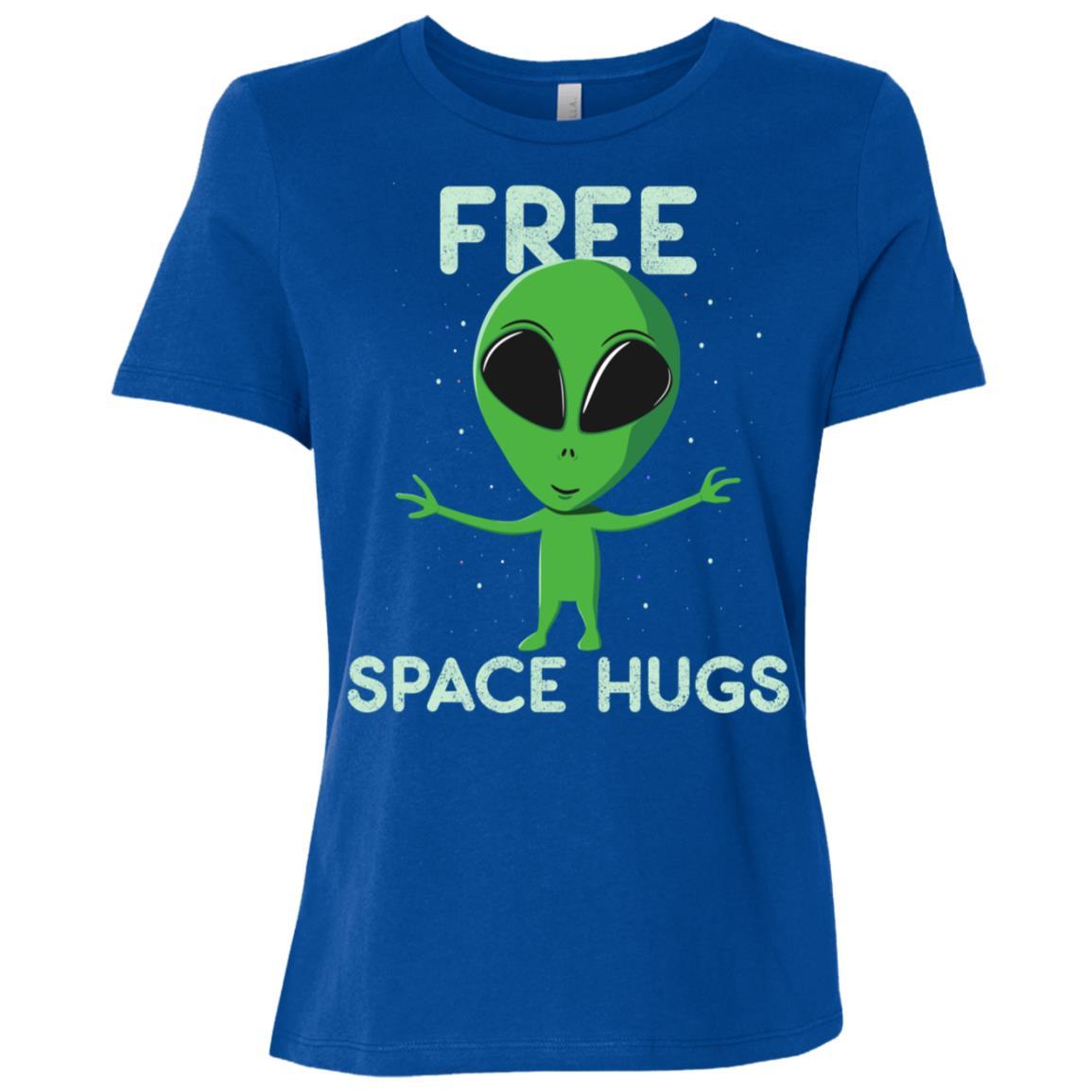 Alien Free Hugs from Space Women Short Sleeve T-Shirt