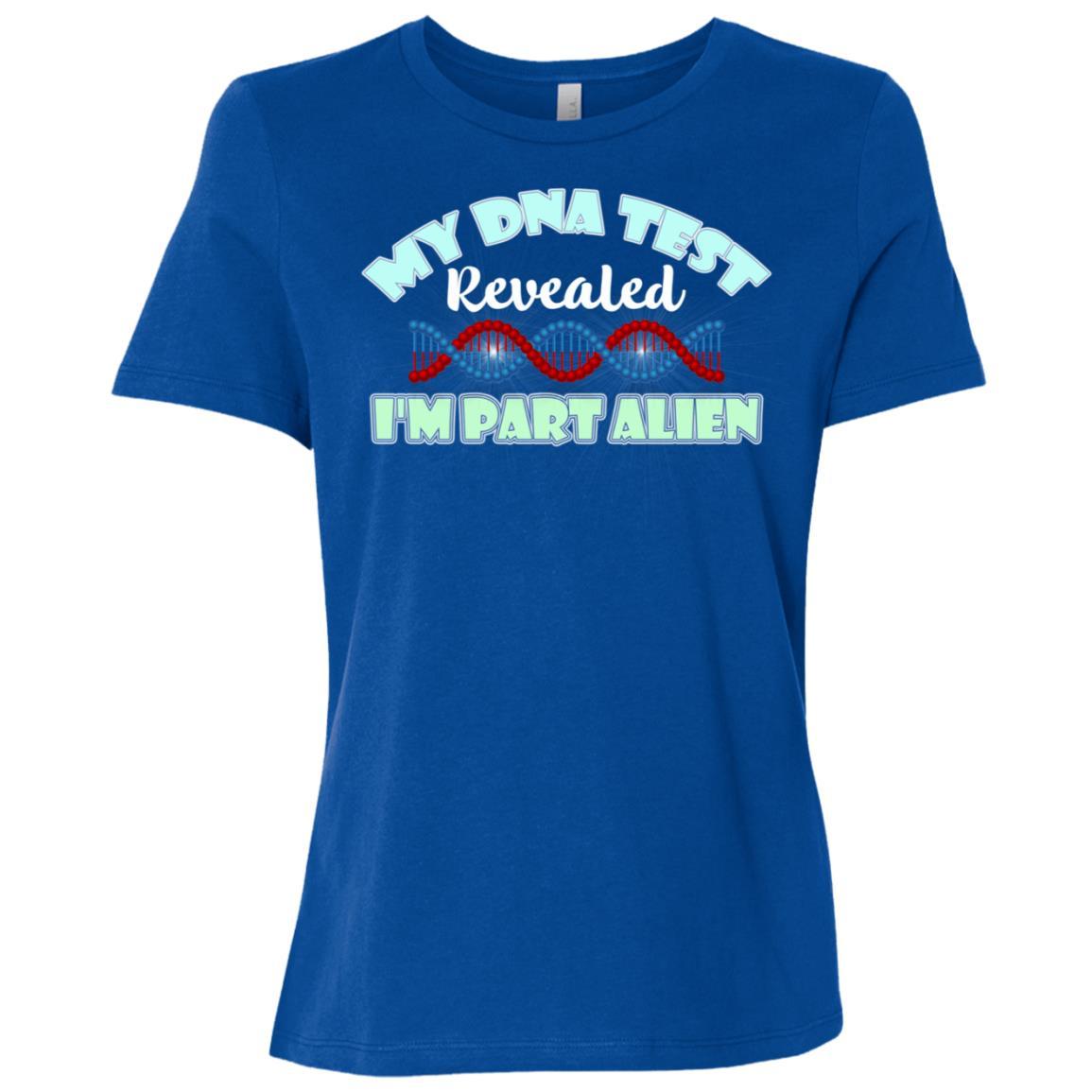 Alien Dna Test My Dna Test Revealed I'm Part Alien Women Short Sleeve T-Shirt
