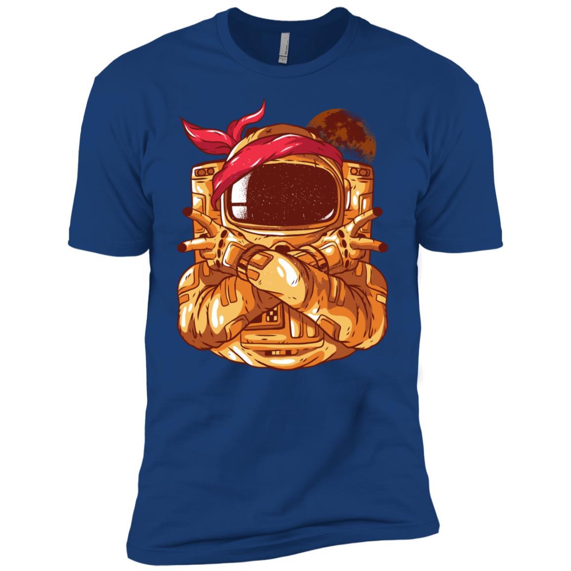 Astronaut Gangster Gangsta Space Man Men Short Sleeve T-Shirt