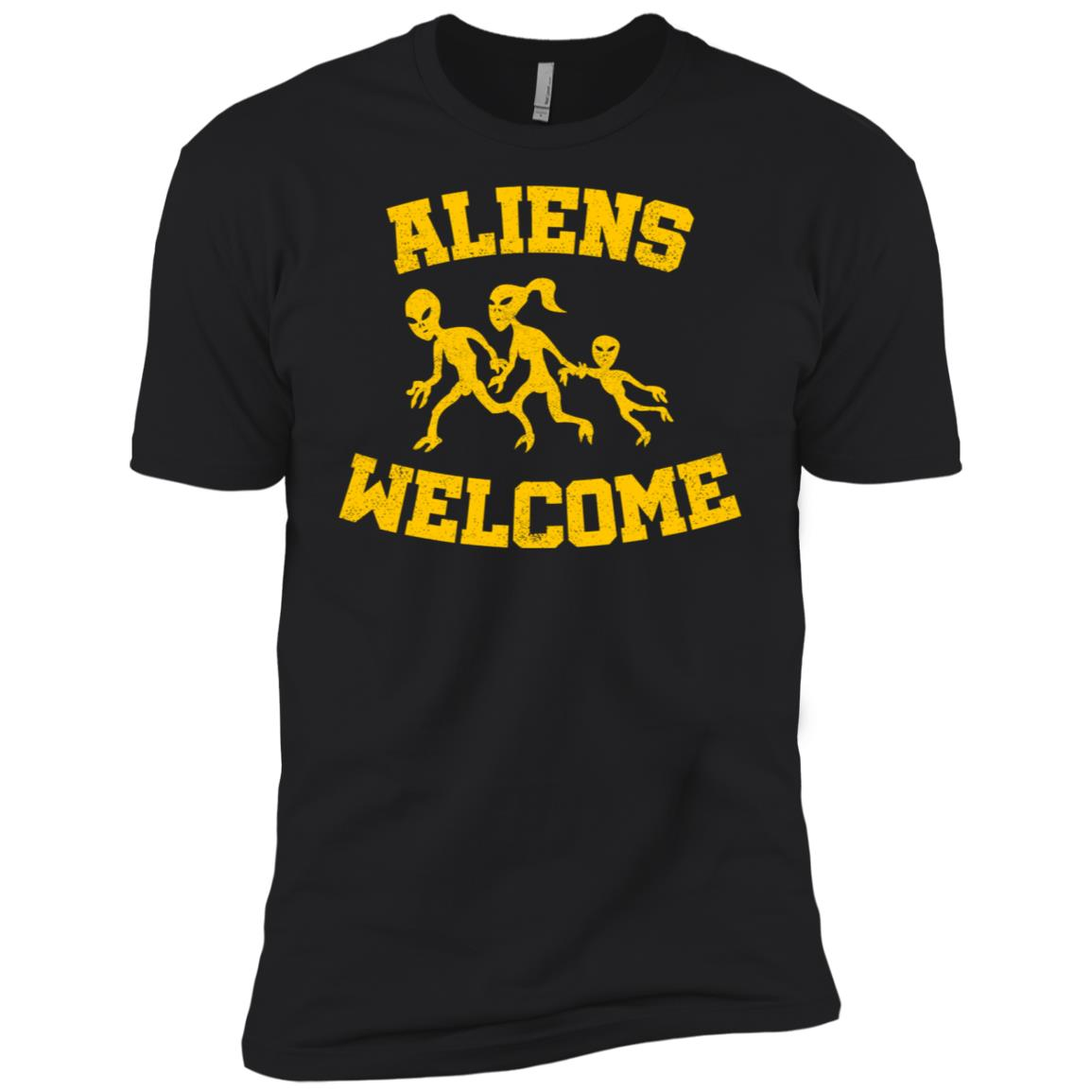 Aliens welcome funny alien and extraterrestrial ls Men Short Sleeve T-Shirt