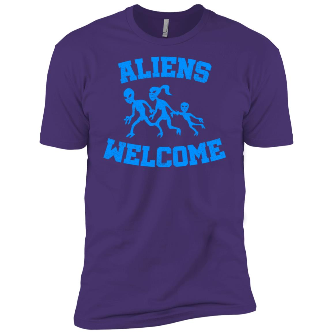 Aliens welcome funny alien and extraterrestrial ls -2 Men Short Sleeve T-Shirt