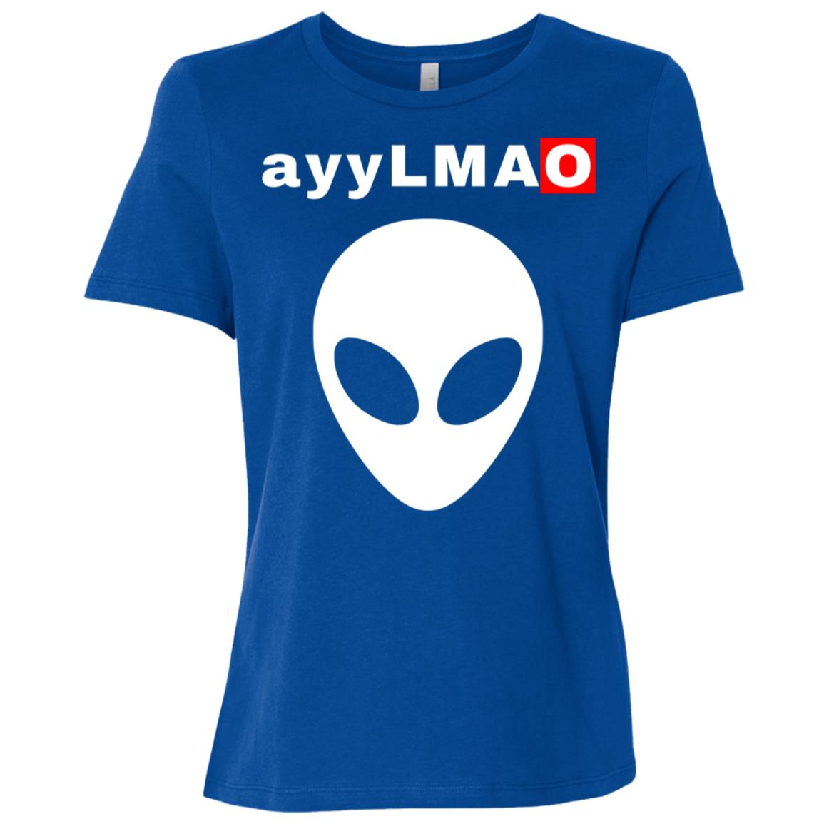 ayy Lmao Alien Head Funny Meme Women Short Sleeve T-Shirt