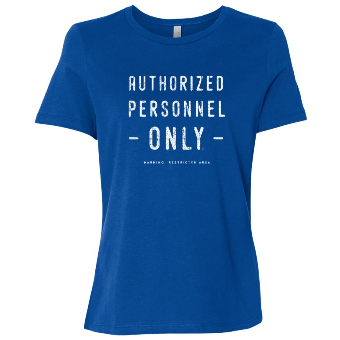 Authorized Personnel Only Vintage Warning Sign Women Short Sleeve T-Shirt