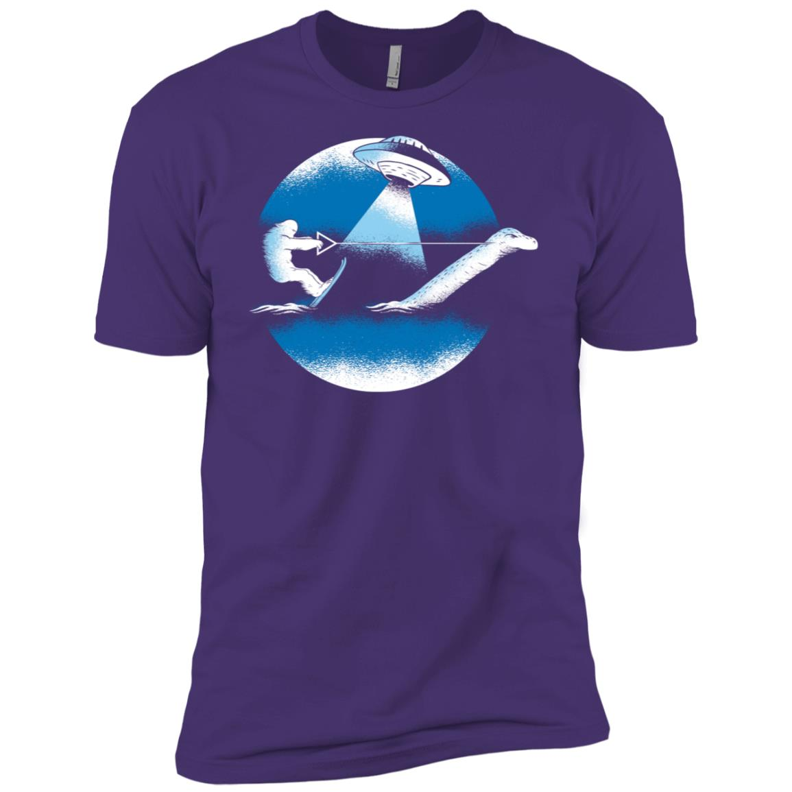 Bigfoot Water Ski With Loch Ness Monster & Ufo Funny Men Short Sleeve T-Shirt