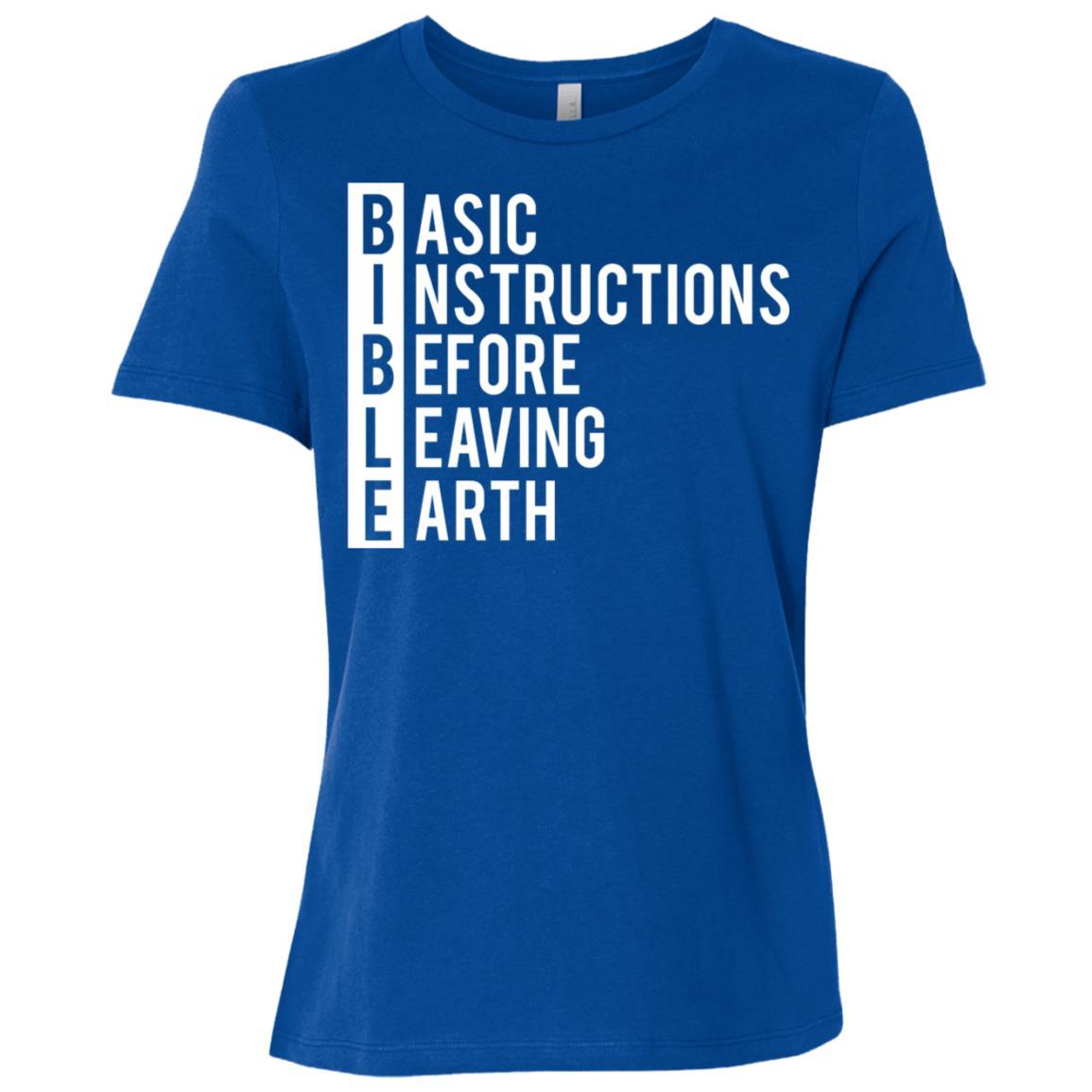 Bible Life Instructions Christian Women Short Sleeve T-Shirt