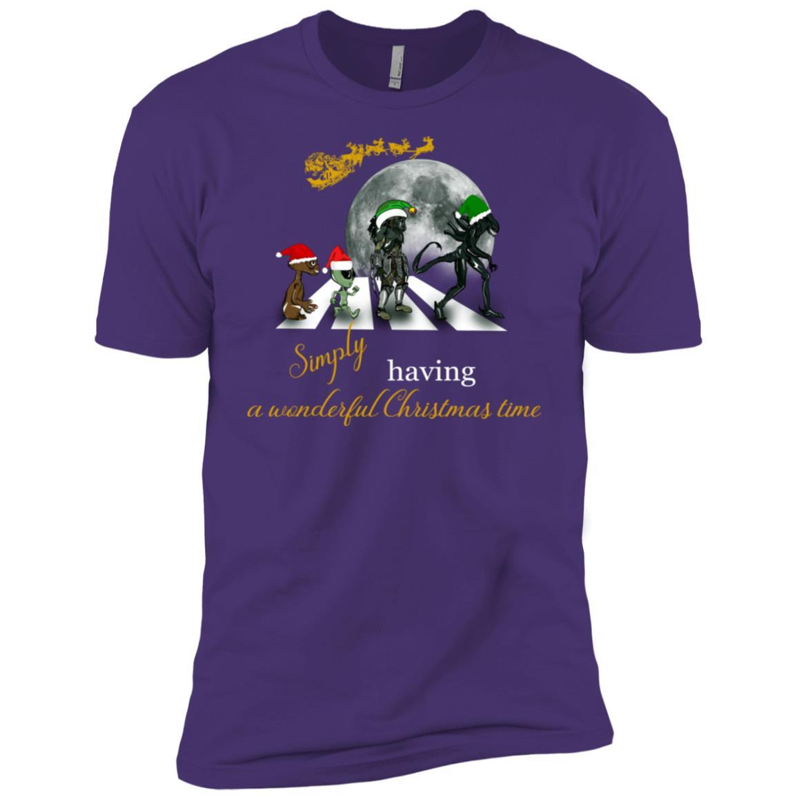 Funny Classic Album Sci Fi-Geek Xmas Alien Road Tee Men Short Sleeve T-Shirt