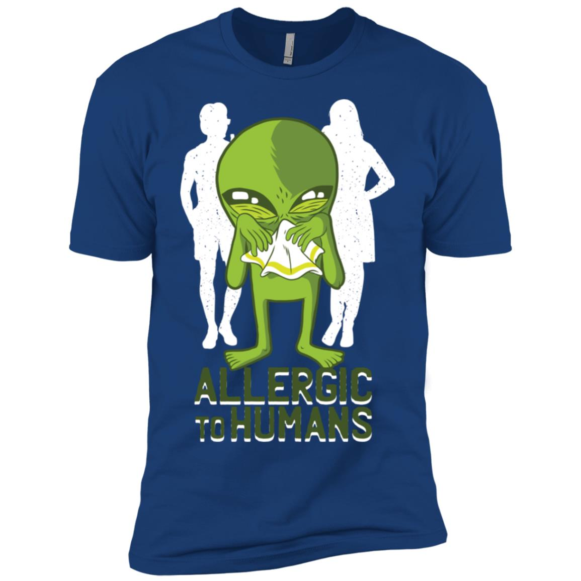 Funny Allergic to Humans Men Short Sleeve T-Shirt