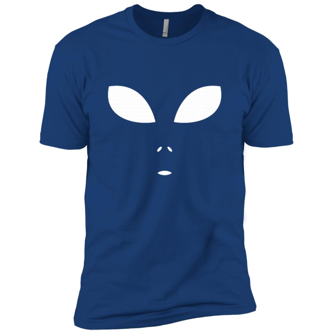 Funny Alien Face Scary Science Fiction Geek Gift Men Short Sleeve T-Shirt
