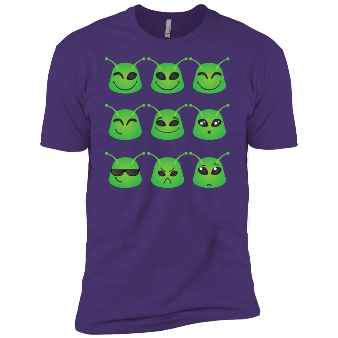 Cute Alien Smileys Gift For Alien Emojis Believers Men Short Sleeve T-Shirt
