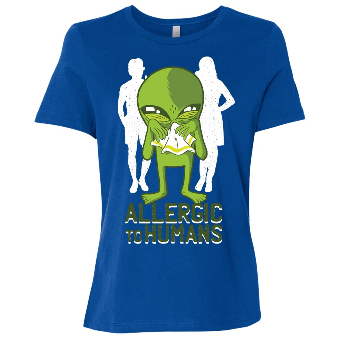 Funny Allergic to Humans Women Short Sleeve T-Shirt