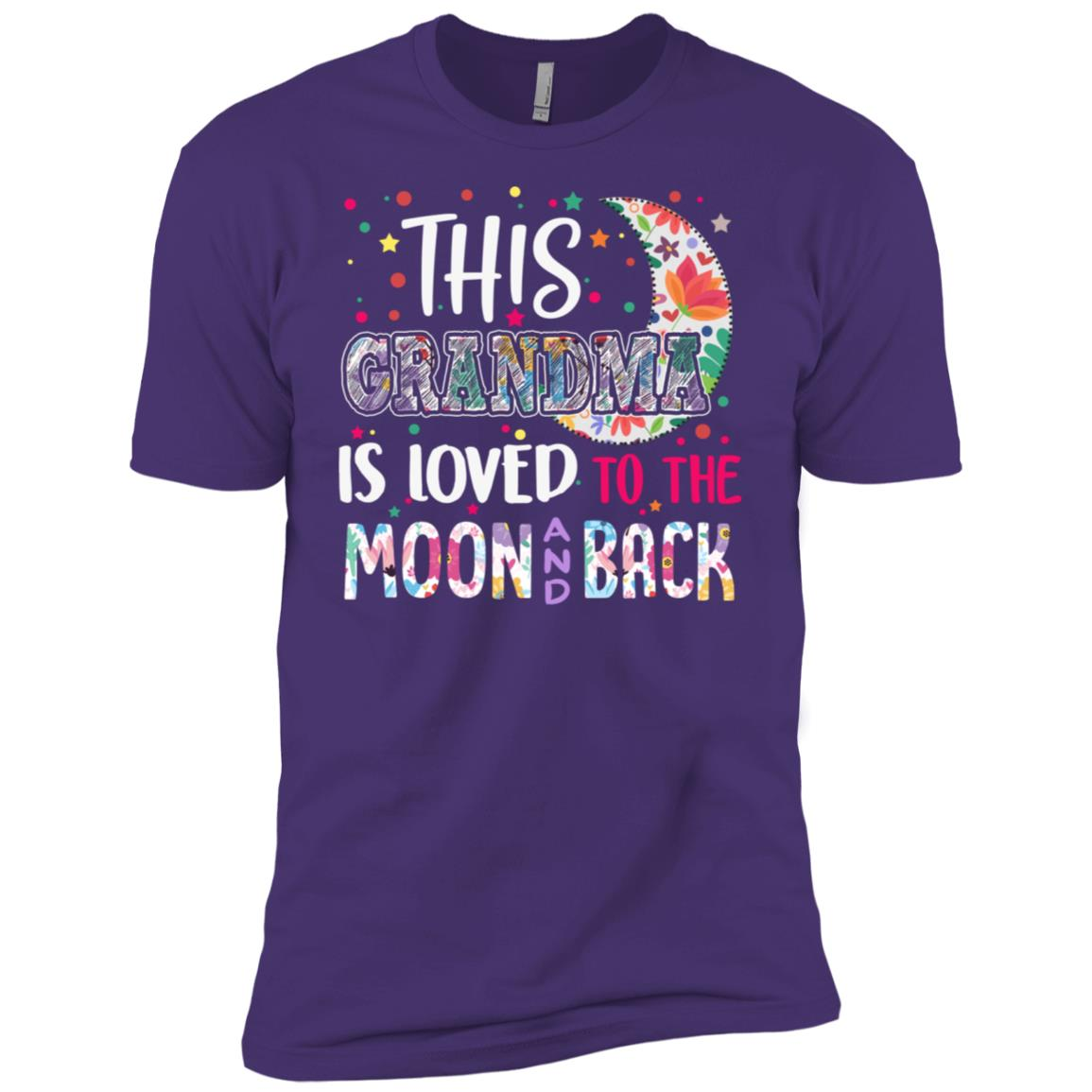 This Grandma is loved to the moon and back Men Short Sleeve T-Shirt