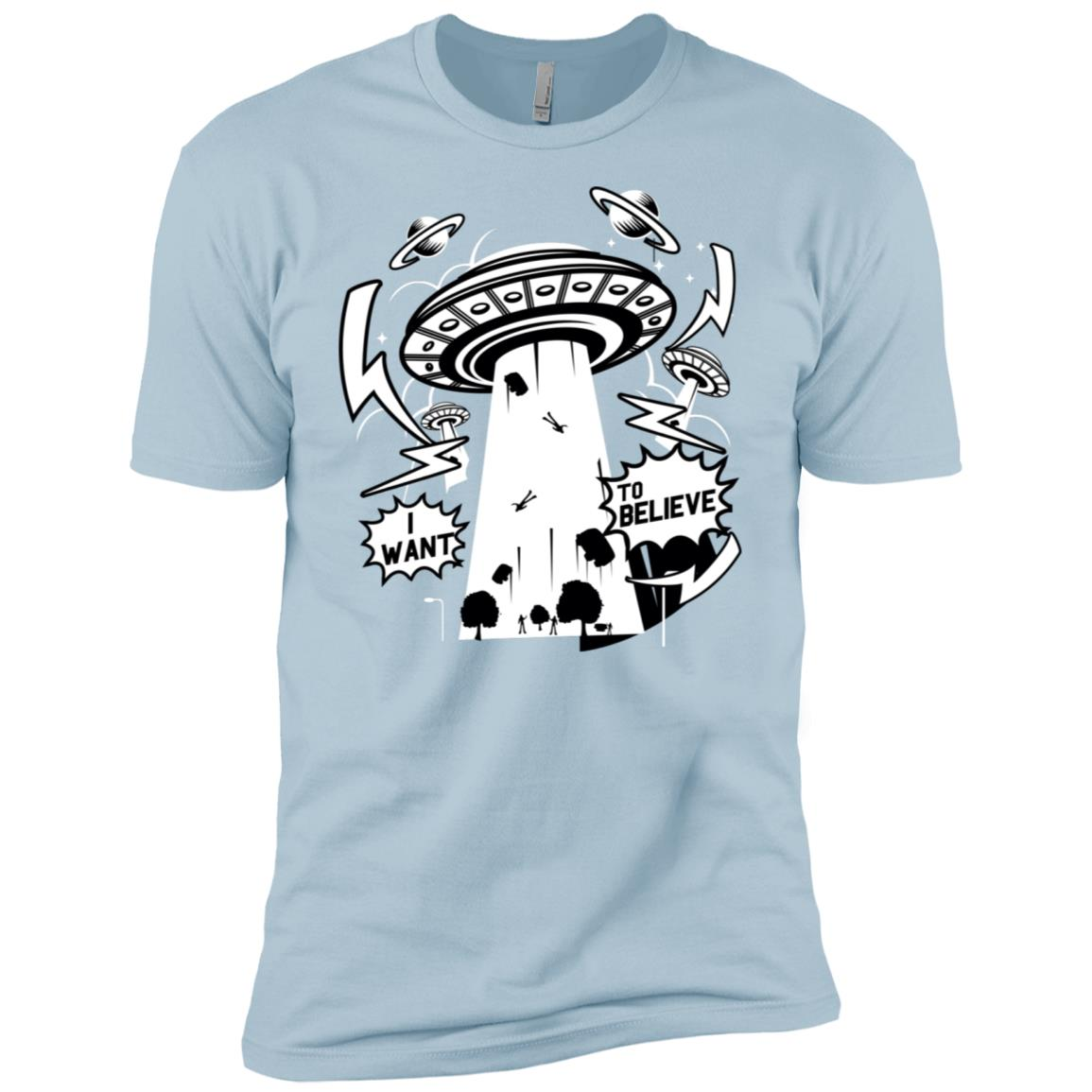 I Want To Believe Funny Alien Abduction Men Short Sleeve T-Shirt