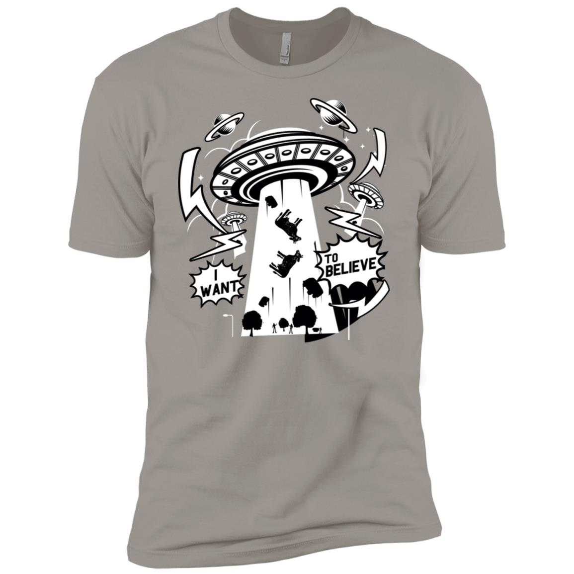 I Want To Believe Alien Abducting Cows Men Short Sleeve T-Shirt