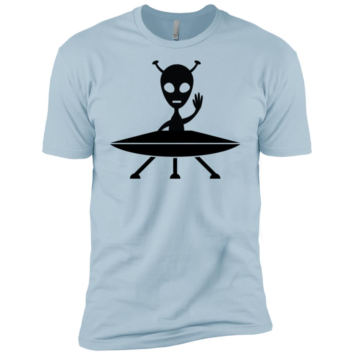 Funny Allien On A Spaceship Ufo Birthday Gift -1 Men Short Sleeve T-Shirt