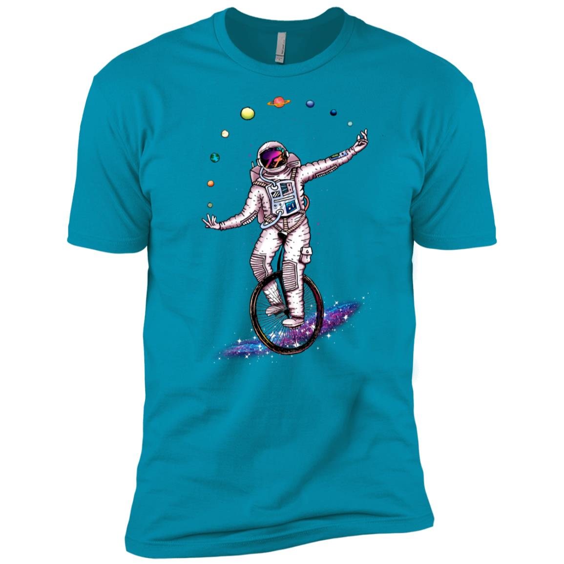 Funny juggling Astronaut Graphic Men Women Men Short Sleeve T-Shirt