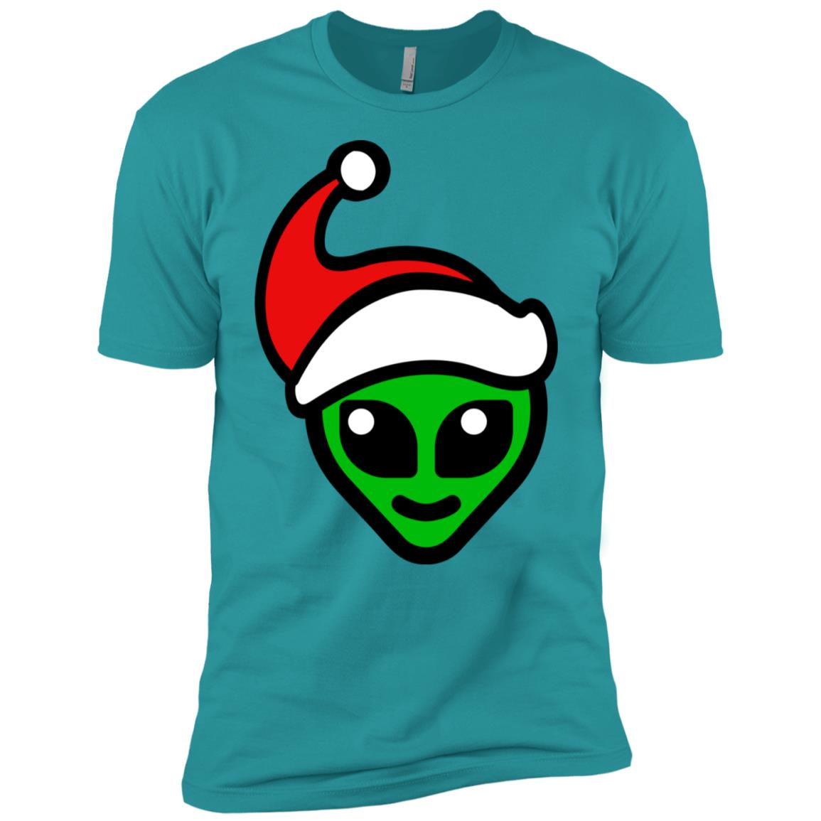 Christmas Green Alien Head – Funny Aliens Love Gift Men Short Sleeve T-Shirt