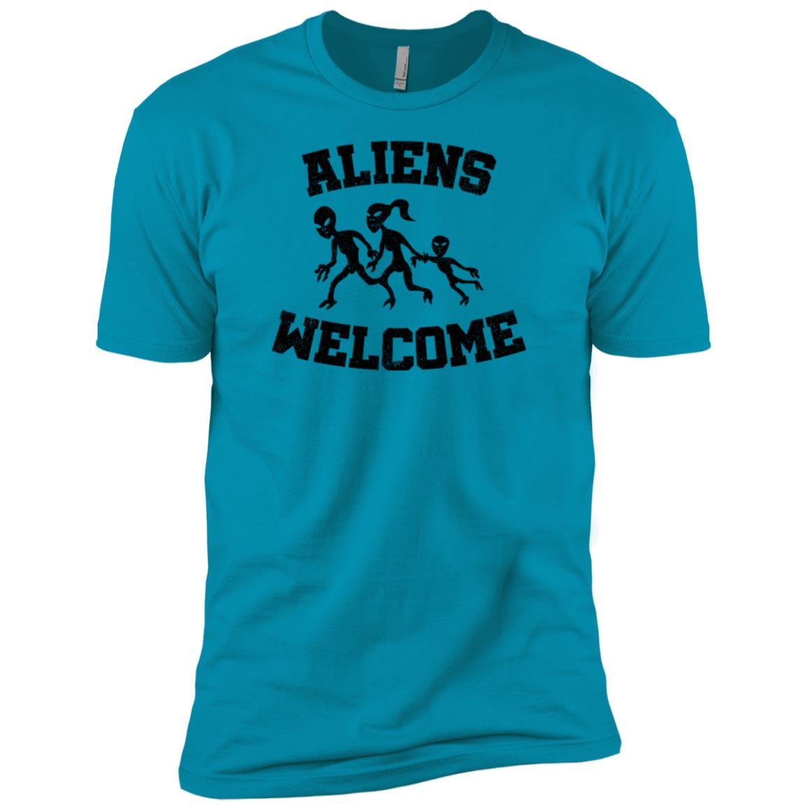 Aliens welcome funny alien and extraterrestrial ls -1 Men Short Sleeve T-Shirt