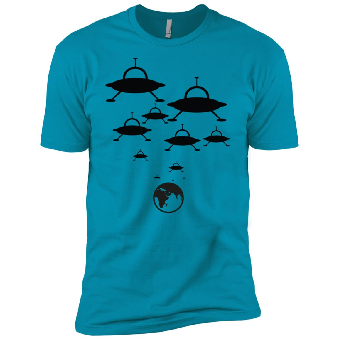 Alien Spaceships Landing On The Earth Ufo Funny -1 Men Short Sleeve T-Shirt