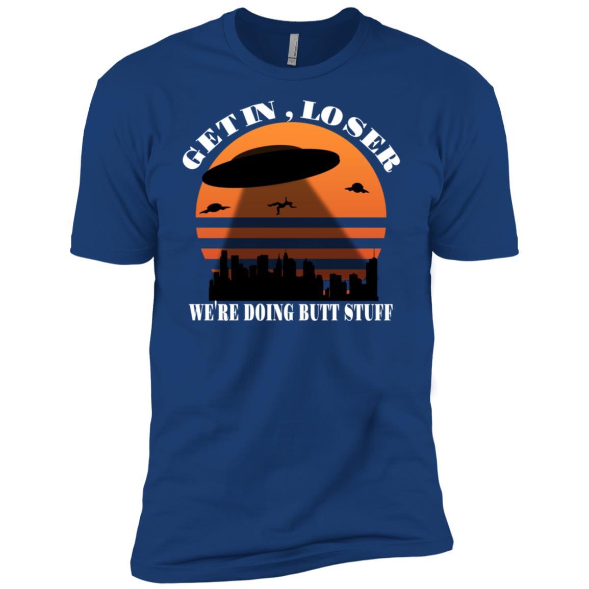 Get In Loser Alien Abduction Meme Funny Ls Men Short Sleeve T-Shirt