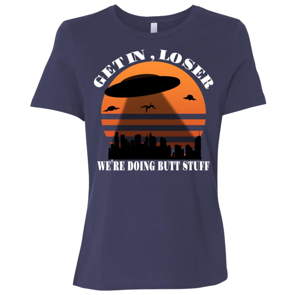 Get In Loser Alien Abduction Meme Funny Ls Women Short Sleeve T-Shirt