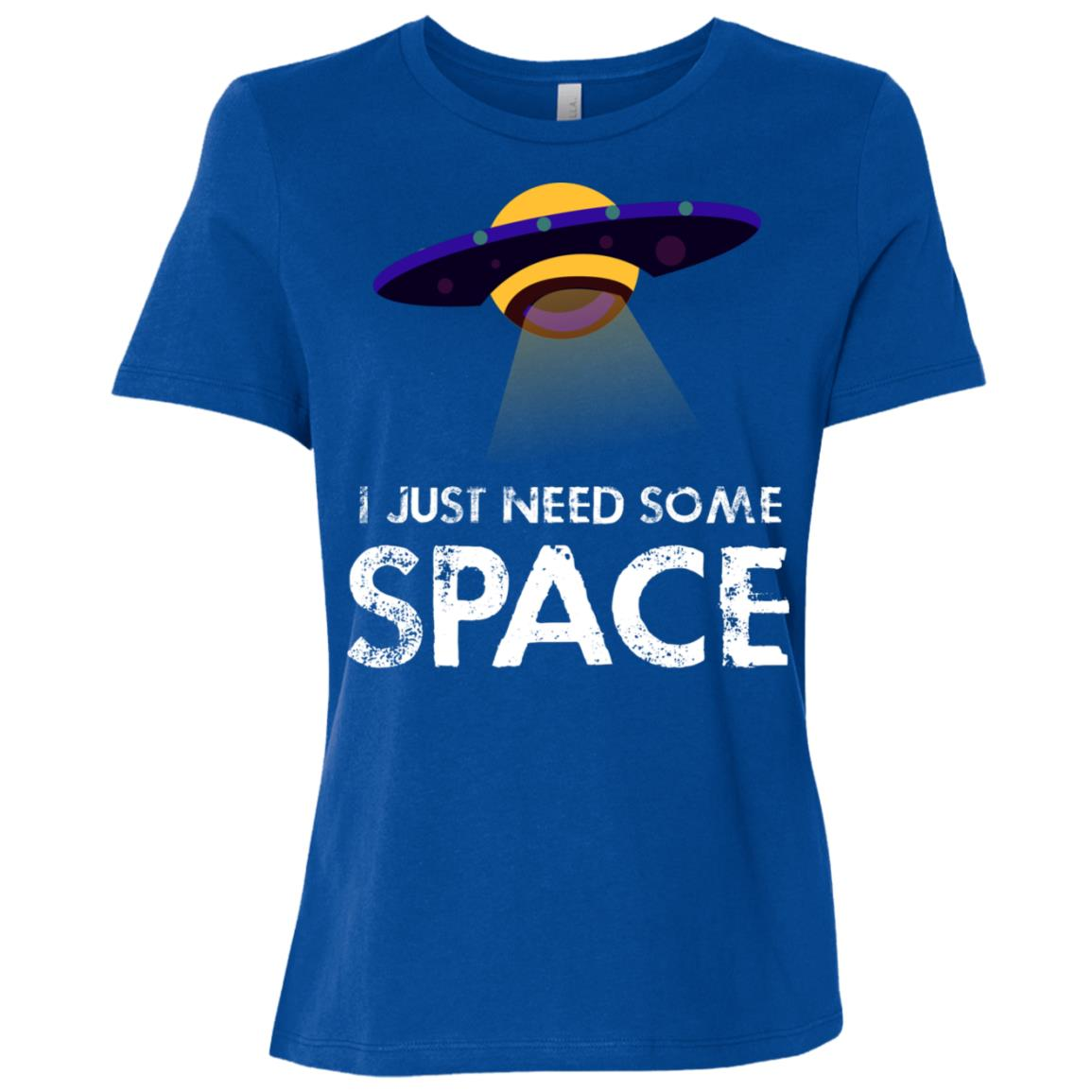 Funny Ufo Alien Just Need Some Space Women Short Sleeve T-Shirt