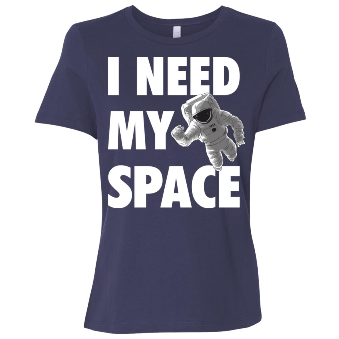Funny I Need Space Astronaut Galaxy Science Geek Gift Women Short Sleeve T-Shirt